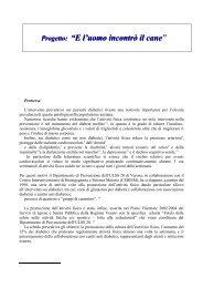 Protocollo cani - Dipartimento di Prevenzione Ulss 20 di Verona