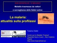 La malaria: attualità sulla profilassi - Dipartimento di Prevenzione ...
