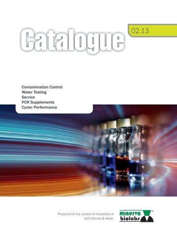 Product Catalogue 2013 - Minerva Biolabs
