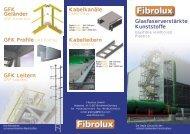 Glasfaserverstärkte Kunststoffe GFK Profile GFK ... - Fibrolux GmbH