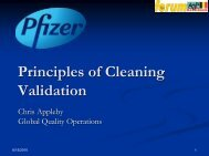 Principles of Cleaning Validation - A3P