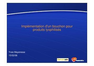 (Microsoft PowerPoint - Implémentation d'un bouchon pour produits ...
