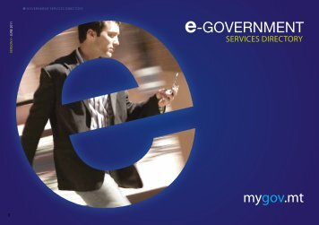 Download the e-Government Services Directory - mygov.mt