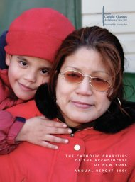 Annual Report 2006 - Catholic Charities of the Archdiocese of New ...
