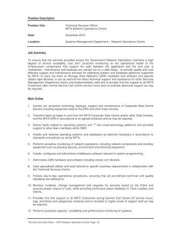 Noc Duties | Resume Cv Cover Letter