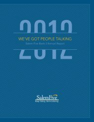 Annual Report - Salem Five