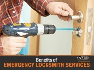 Benefits of 24 hour locksmith in St. Louis, MO