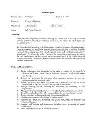 Job Description Position Title: Controller Position # 303 Reports to ...