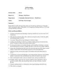 Job Description (Rev. Jan. 2, 2007) Position Title: Driver Reports to ...