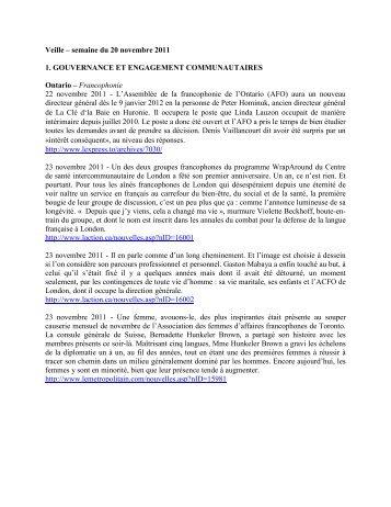 rubrique 1 - Faculté des sciences sociales - Université d'Ottawa