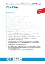 SEPA-Checkliste - DKB