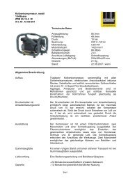 Kolbenkompressor, mobil 10+Master ZPM 85-15-2 ... - Dt-druckluft.de
