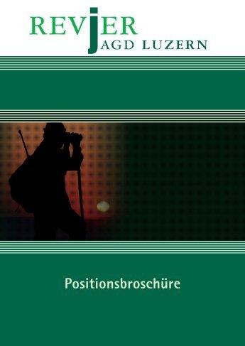 Positionsbroschüre - Revierjagd Luzern