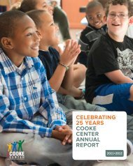 CELEBRATING 25 YEARS COOKE CENTER ANNUAL REPORT