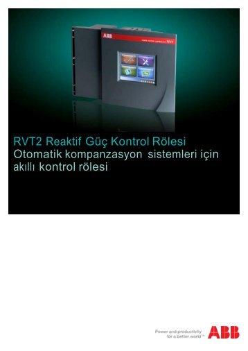 RVT2 Reaktif Güç Kontrol Rölesi Otomatik kompanzasyon sistemleri ...