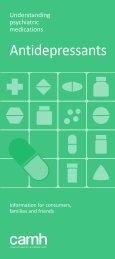 Understanding Psychiatric Medications: Antidepressants - CAMH ...