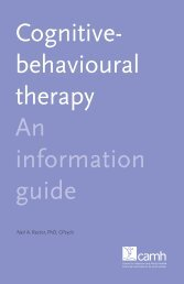 Cognitive-behavioural therapy: An information guide - CAMH ...