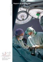 Rapport de gestion 2010 - Hôpital du Valais