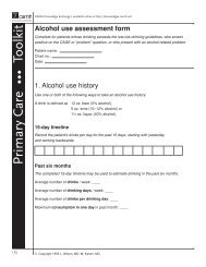 Alcohol use assessment form - CAMH Knowledge Exchange
