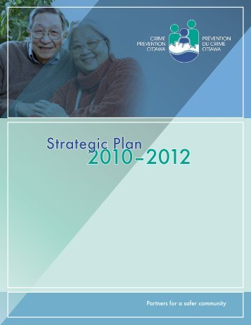Strategic Plan 2010-2012 - Crime Prevention Ottawa