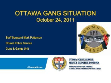 Overview of the current gang situation in Ottawa - Crime Prevention ...