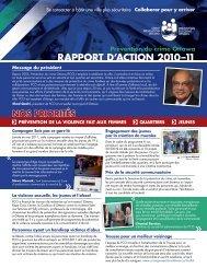 Rapport d'action 2010-2011 - Crime Prevention Ottawa