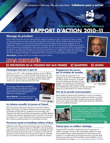 Rapport d'action 2010-2011 - Crime Prevention Ottawa