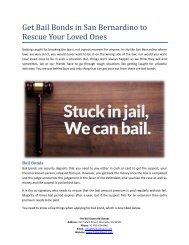 Get Bail Bonds in San Bernardino to Rescue Your Loved Ones