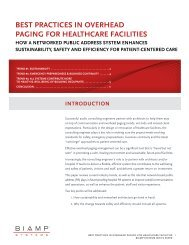 best practices in overhead paging for healthcare facilities