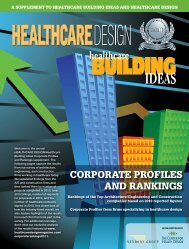 CoRPoRATE PRofilEs And RAnkings - Healthcare Design Magazine