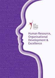 Human Resource, Organisational Development & Excellence