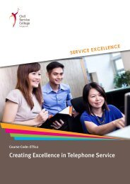 Creating Excellence in Telephone Service - Civil Service College