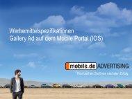 Gallery Ad auf dem mobilen Portal - mobile.de Advertising