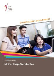 Let Your Image Work For You - Civil Service College