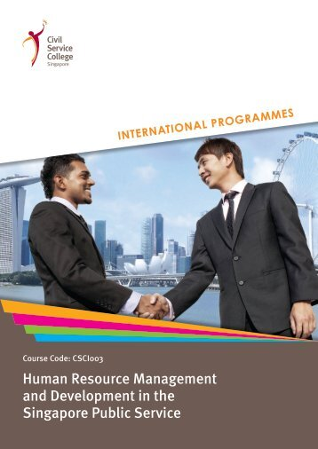 Human Resource Management and Development in the Singapore ...