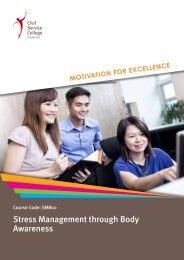 Stress Management through Body Awareness - Civil Service College