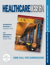 Call for Submissions brochure - Healthcare Design Magazine