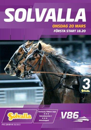 ONSDAG 20 MARS - Solvalla