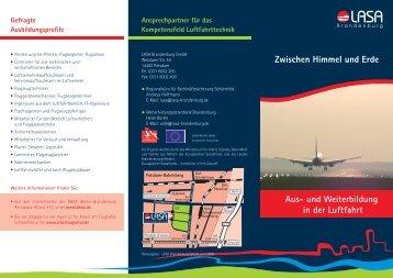 und Weiterbildung in der Luftfahrt - Weiterbildung Brandenburg