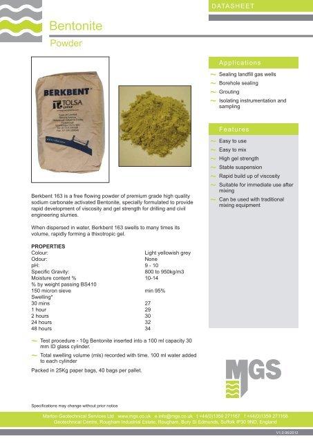 Bentonite - MGS