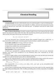 Chemical Bonding - TestBag