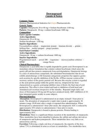 Downoprazol Active Ingredient - Utopia Pharmaceuticals