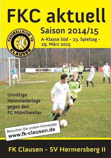 FKC Aktuell - 23. Spieltag - Saison 2014/2015
