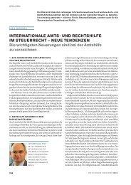 INTERNATIONALE AMTS- UND RECHTSHILFE IM STEUERRECHT ...