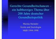 Gerechte Gesundheitschancen - Universität Bielefeld