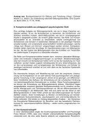 1 Auszug aus: Bundesministerium für Bildung und Forschung (Hrsg ...