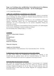 Paper zur Erstellung eines ausführlichen Unterrichtsentwurfs im ...