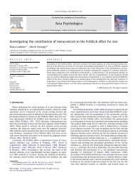 Investigating the contribution of metacontrast to the Fröhlich effect for ...