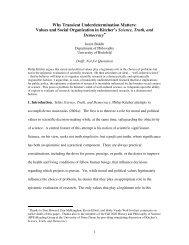 Why Transient Underdetermination Matters - Universität Bielefeld