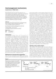 Cyclooxygenase mechanisms Lawrence J Marnett